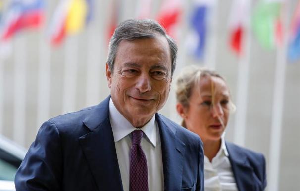 Mario Draghi en la reunión del BCE, Banco Central Europeo