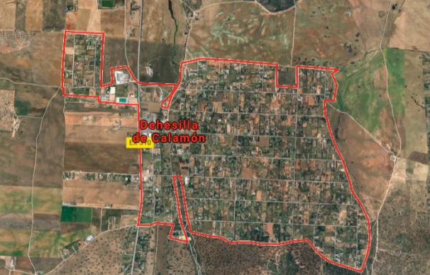 Vista aérea de la macrourbanización alegal Dehesilla del Calamón en Badajoz.