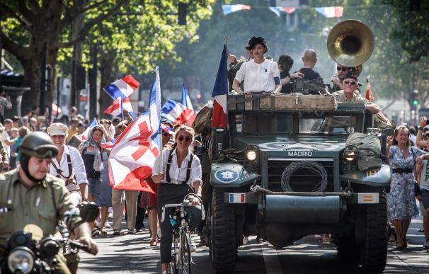 Imagen de las celebraciones por el 75º aniversario de la liberación de París. / EFE