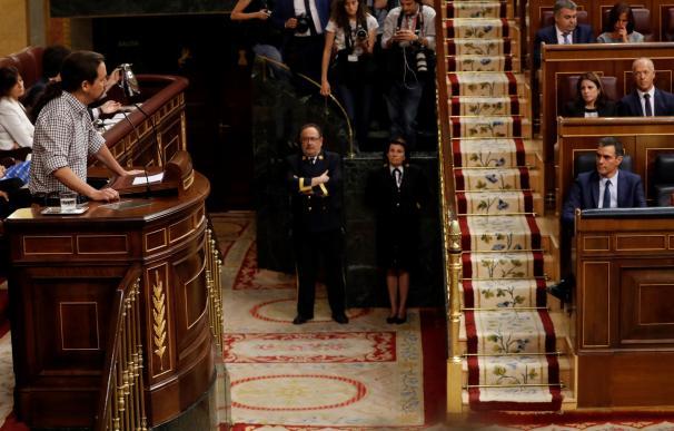 Iglesias y Sánchez en el Congreso de los Diputados