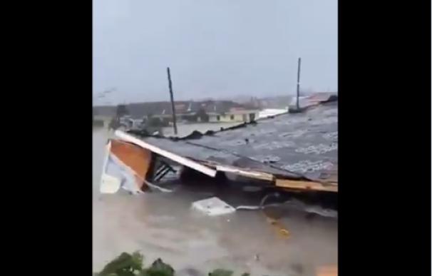 Fotografía de los efectos del huracán Dorian en Bahamas.