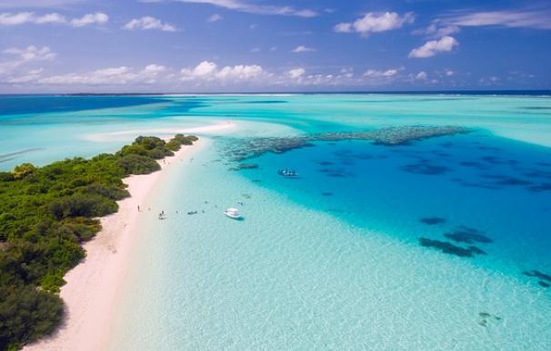 Fotografía de vacaciones en las islas Maldivas.