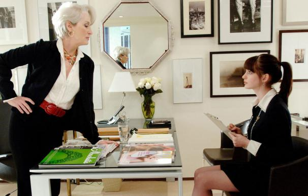 Meryl Streep y Anne Hathaway, en El diablo viste de Prada