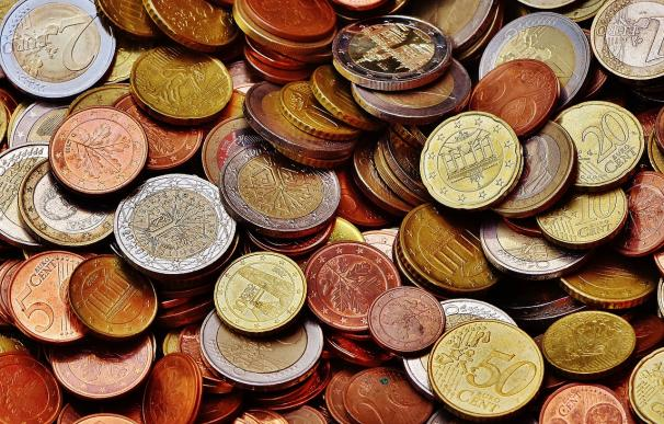 Fotografía de monedas de euro.