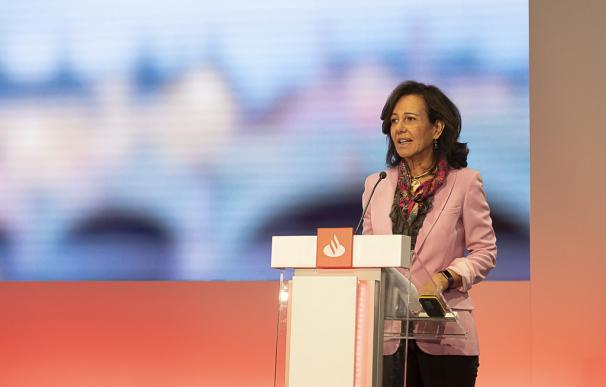 Ana Botín, presidenta de Santander, durante la presentación del Plan Estratégico