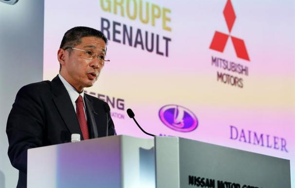 otografía de archivo del 14 de mayo de 2019 que muestra al presidente y CEO de Nissan Motor Co., Hiroto Saikawa, mientras anuncia los resultados financieros de la compañía para el año fiscal 2018, que terminó el 31 de marzo de 2019,