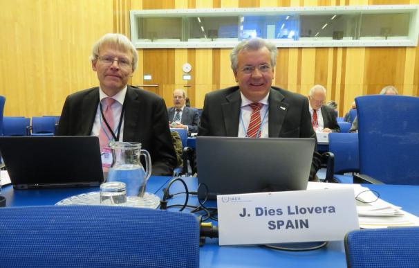 Javier Dies, consejero del CSN a propuesta del PP, en una reunión de la OIEA en 2017.