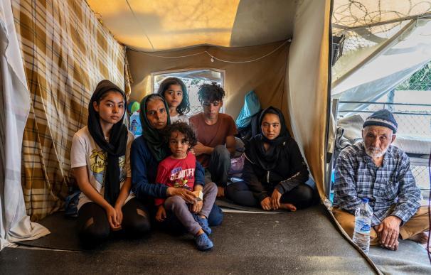 Una familia de refugiados sirios en Turquía