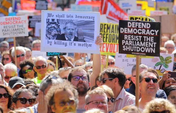 Protestas Brexit parlamento