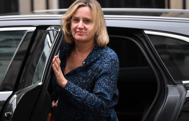 Amber Rudd ha presentado su dimisión por sus discrepancias con Boris Johnson. / EFE