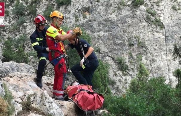 Rescate a un escalador en Montanejos
