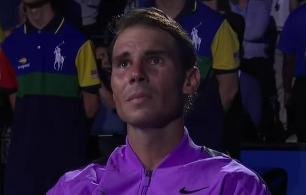 Fotografía de Rafa Nadal en la ceremonia de clausura del US Open.