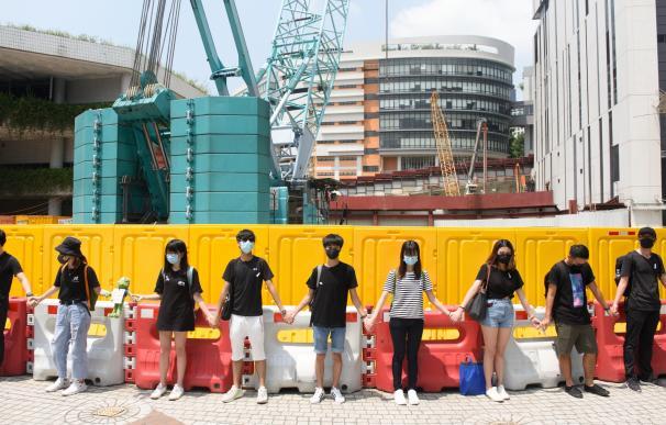 Cadenas humanas Hong Kong