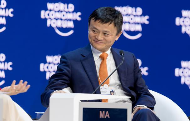 Jack Ma, en un encuentro en el Foro de Davos. / WEF, Sandra Blaser