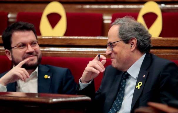 Foto Pere Aragonés y Quim Torra / EFE