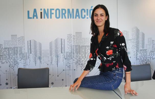 Rita Maestre, en la redacción de La Información