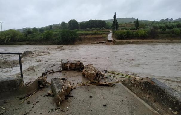 Crecida río puente arrancado Clariano