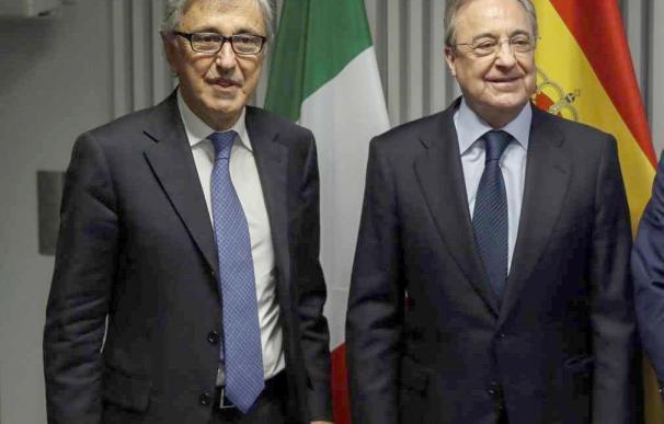 Giovanni Castellucci y Florentino Pérez, socios en Abertis.