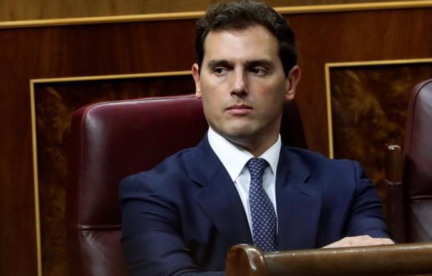 Albert Rivera, en la sesión de investidura