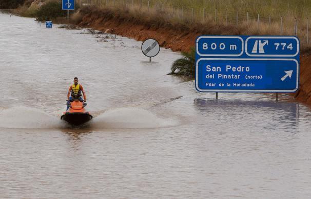 Efectos de la gota fría en Pilar de la Horadada, Alicante