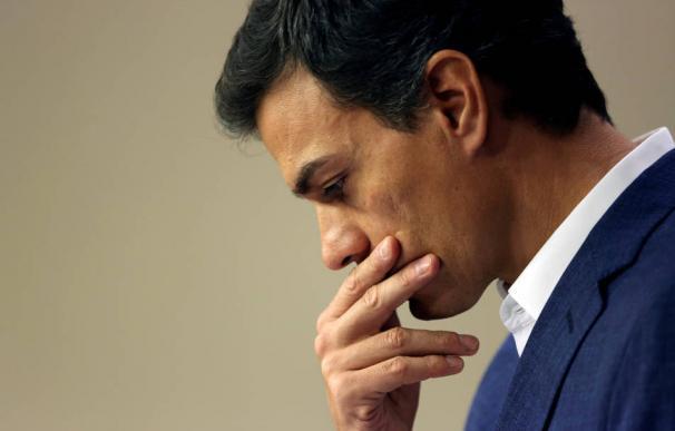 Pedro Sánchez, pensativo. / EFE