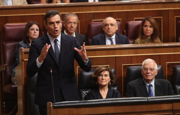 Pedro Sánchez y Carmen Calvo, PSOE, Congreso de los Diputados