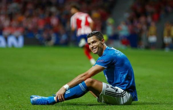 Fotografía de Cristiano Ronaldo en el partido Atlético - Juventus.