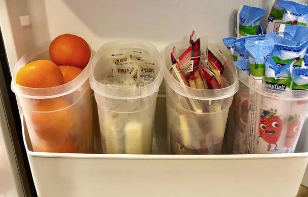 Fotografía del truco de alimentación sana de Sarah Hornung.