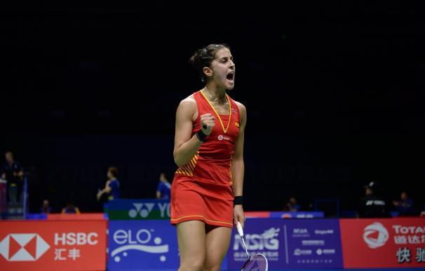 Carolina Marín, durante el Campeonato del Mundo de bádminton