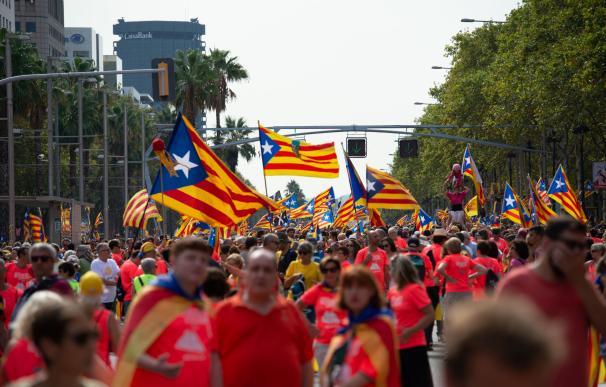 Manifestación por la Diada 2018 en Barcelona