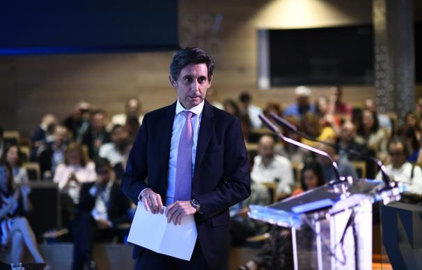 El presidente de Telefónica, José María Álvarez-Pallete, durante una conferencia en la Fundación Telefónica.
