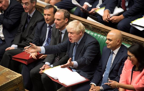 Boris Johnson, en el Parlamento