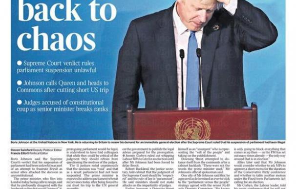 Boris Johnson en las portadas