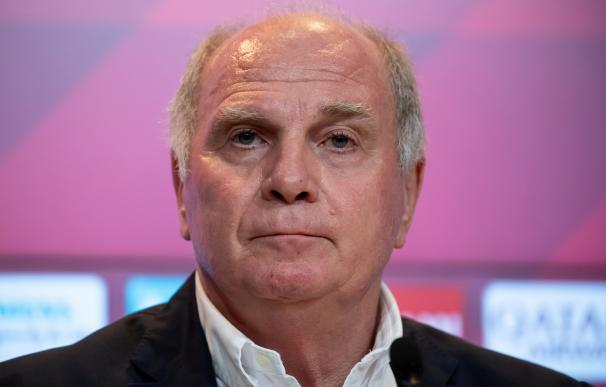 FILED - 30 August 2019, Munich: Bayern Munich President Uli Hoeness, attends a press conference of the club. Bayern Munich president Uli Hoeness has reportedly threatened the Bundesliga champions could boycott the Germany team - in breach of FIFA regulati