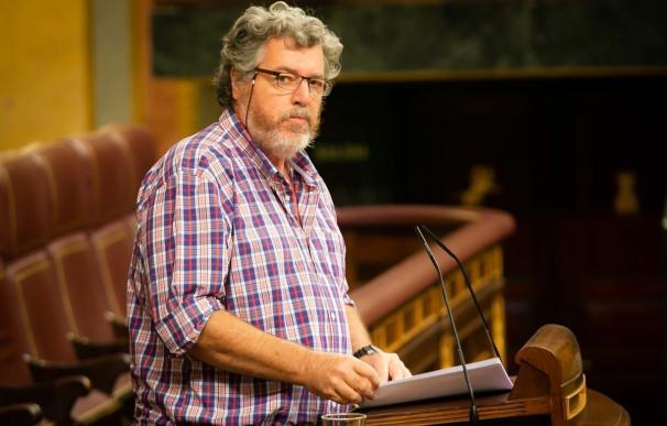 El diputado de Equo Juantxo López de Uralde en el Congreso