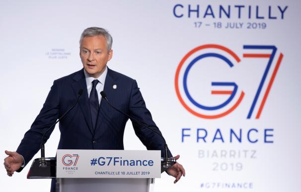 El ministro de finanzas francés, Bruno Le Maire, al final de la Cumbre de Finanzas del G7 en Chantilly, Francia, el 18 de julio de 2019. /EFE / EPA / IAN LANGSDON