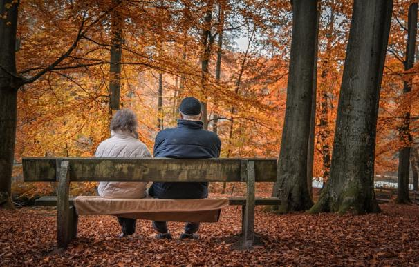 Fotografía de dos pensionistas.