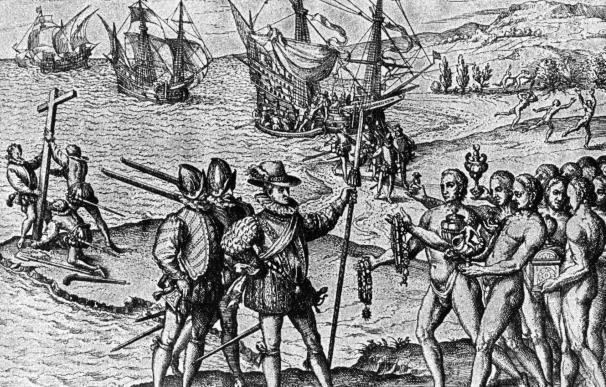 Cristóbal Colón llega a la Isla Watling en 1495