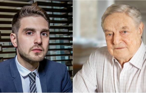 Alex Soros y su padre, George.