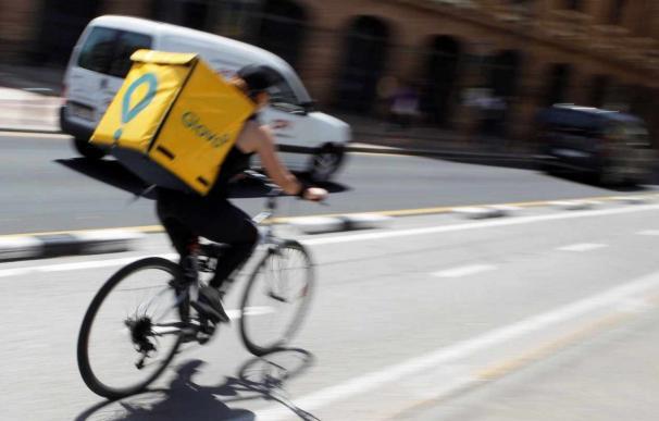 Un 'rider' de la empresa Glovo. /Europa Press