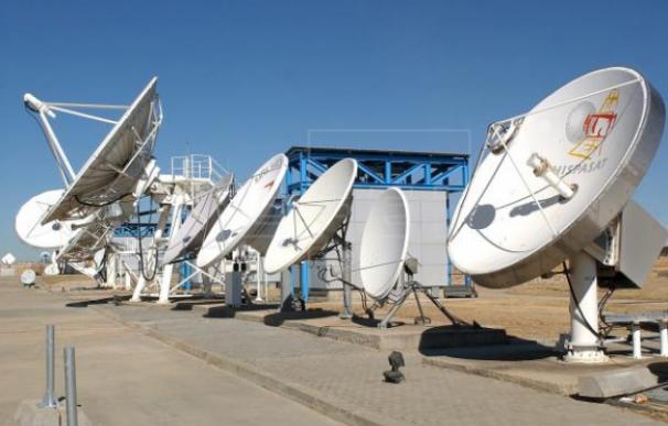 Centro de seguimiento de satélites de Hispasat en arganda del rey (Madrid).