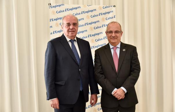 José Oriol Sala, Presidente del Grupo Caja de Ingenieros, y Joan Cavallé, Director General del Grupo Caja de Ingenieros (1)