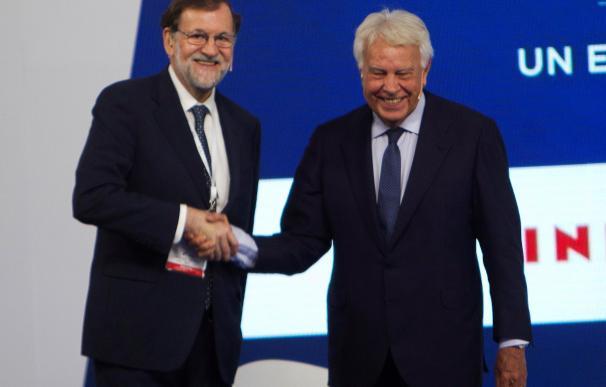 Felipe González y Mariano Rajoy