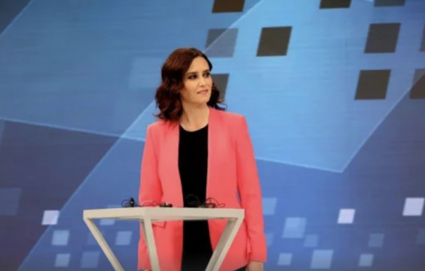 Díaz Ayuso en Telemadrid