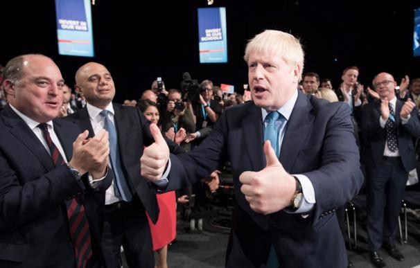 Boris Johnson, durante la convención de los conservadores de 2019