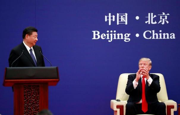El presidente de China, Xi Jinping, junto a su homólogo de EEUU, Donald Trump