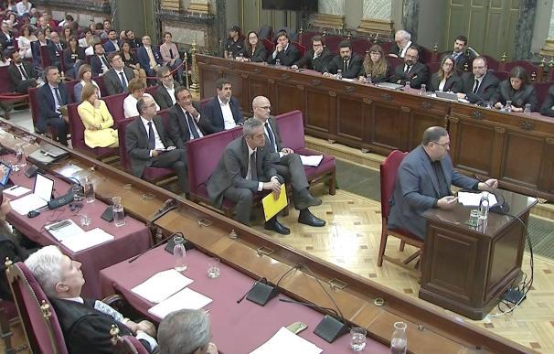 Junqueras durante el juicio del procés