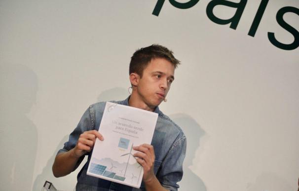 Íñigo Errejón, durante la presentación del programa 'verde' de Más País