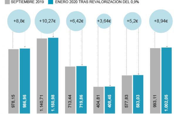 pensiones 2020 subida 0,9 grafico