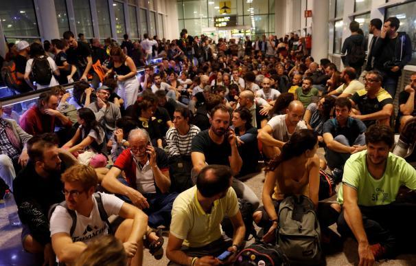 Protestas en El Prat sentencia procés